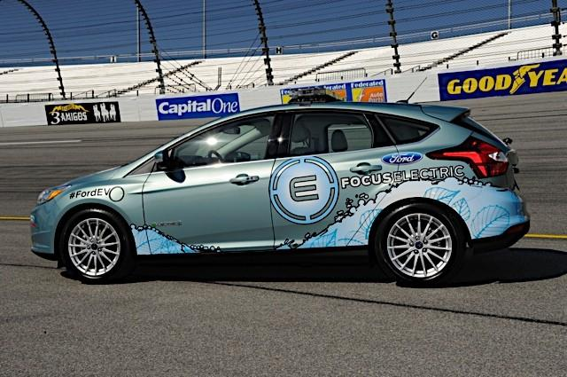 The 2012 Ford Focus Electric will serve as the pace car for NASCAR's Capital City 400 at the Richmond International Raceway on Saturday.