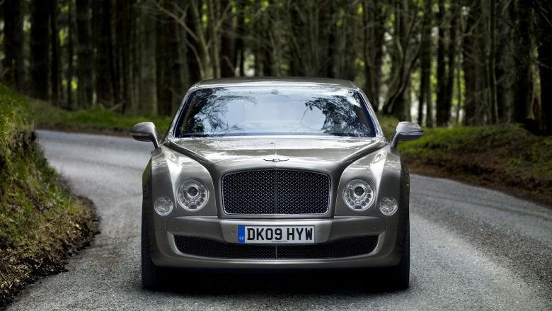 The iconic front grill of the Bentley Mulsanne.