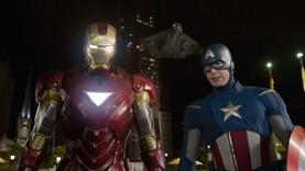 Iron Man (Robert Downey Jr.) and Captain America (Chris Evans) of 'The Avengers'