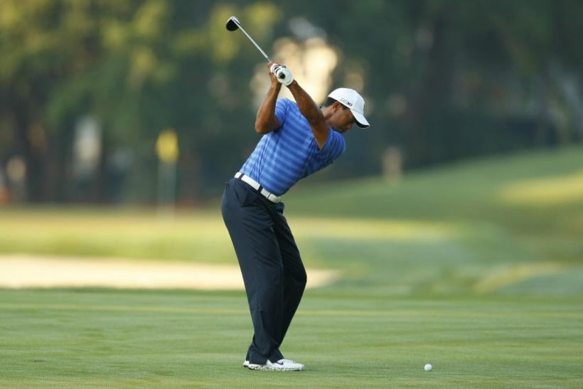 Tiger Woods during a practice round for The Players Championship.