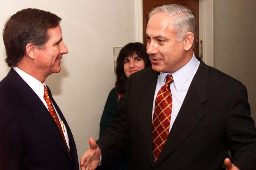 BMC Software CEO Bob Beauchamp (left) meet israel Prime Minister Benjamin Netanyahu