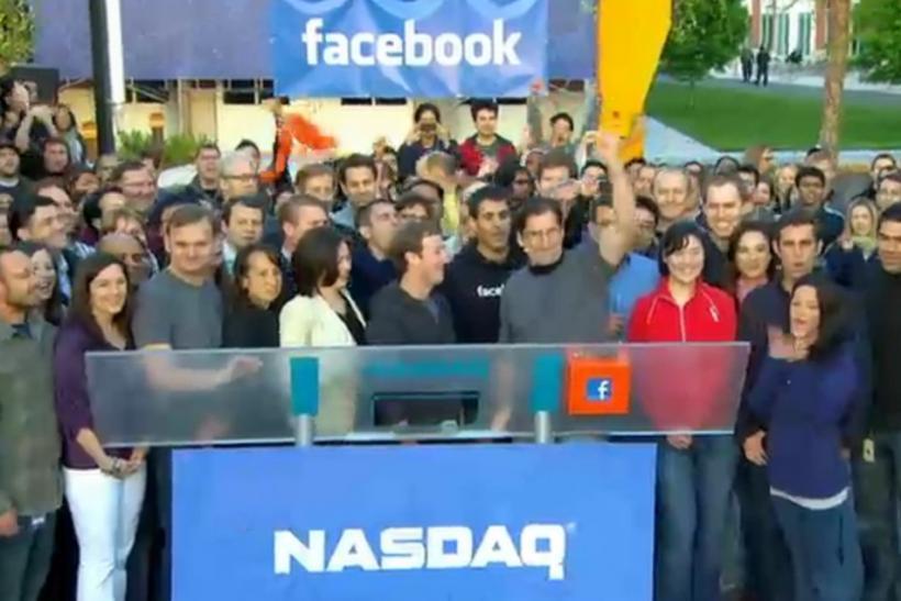 What did facebook ipo start at