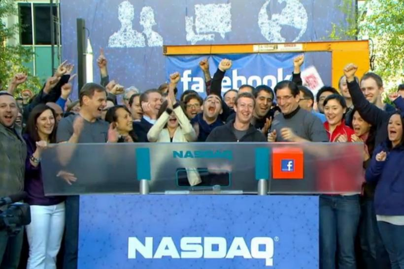 Facebook IPO: Mark Zuckerberg Celebrates With Employees As Nasdaq Begins Trading