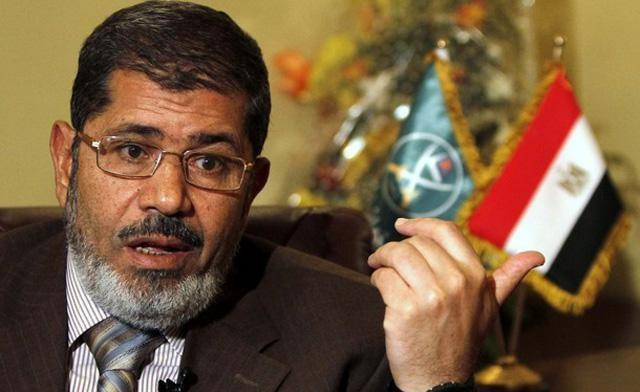 Freedom and Justice Party candidate Mohammed Morsi