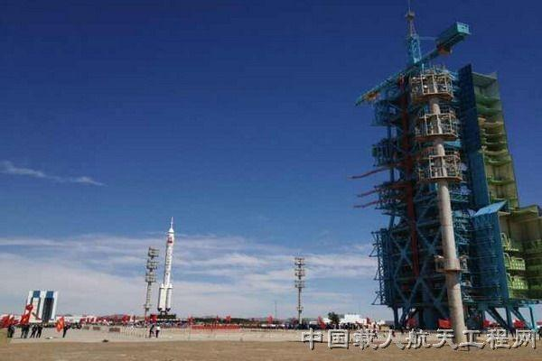 China is preparing to launch a manned space flight to an orbiting space laboratory in the middle of this month