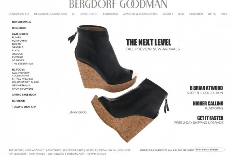 Bergdorf Goodman Screen Grab
