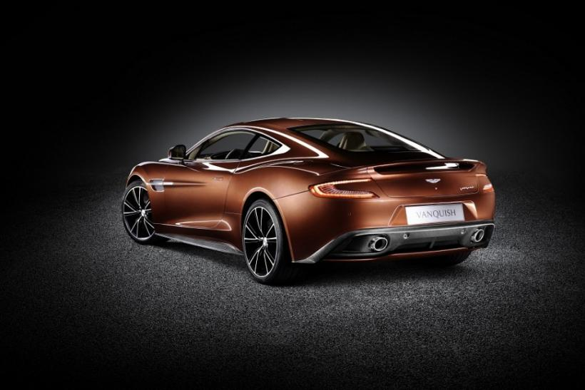 The new Aston Martin 310 Vanquish from the rear.