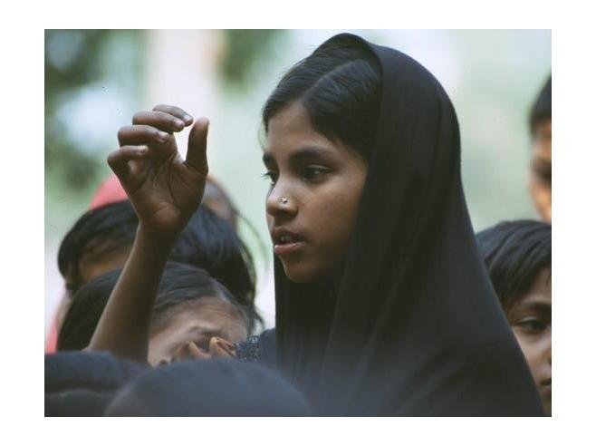 Hindu girl in Bangladesh