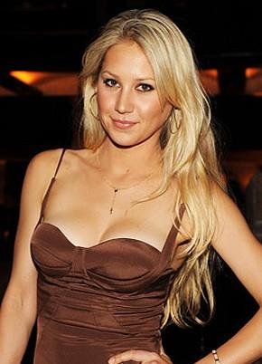 Anna Kournikova, who is known as much for her beauty as her tennis skills.
