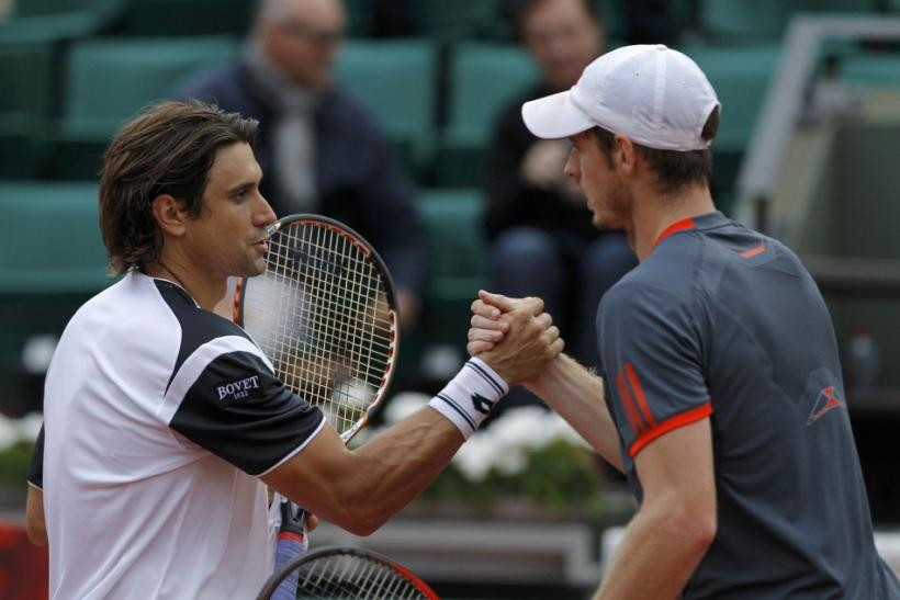 David Ferrer (L) and Andy Murray