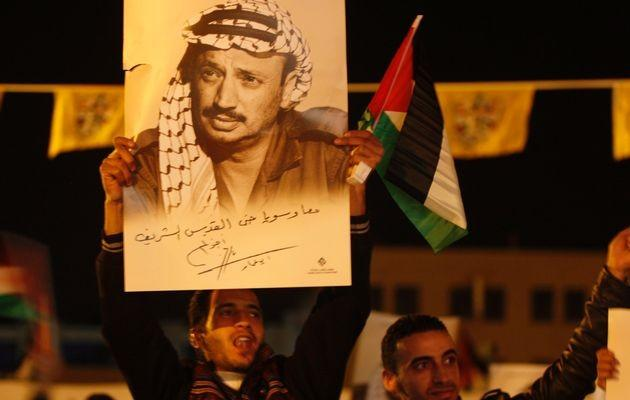 Ceremony Marking Anniversary Of Arafat's Death