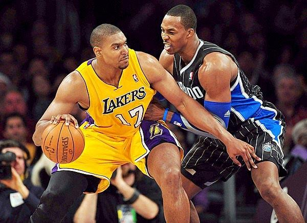 The Lakers might be able to acquire Dwight Howard if they are willing to part with Andrew Bynum.