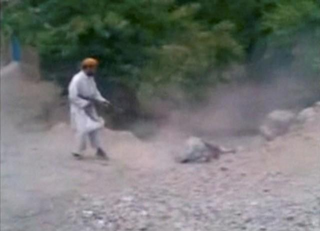 Still Image Of Woman Executed By Taliban In Village Outside Kabul