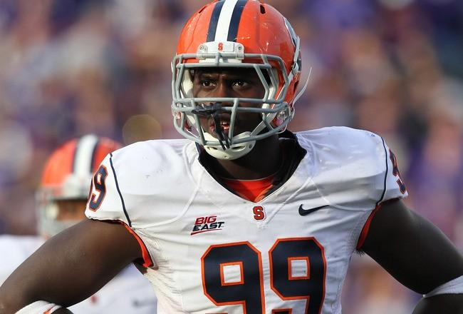 Chandler Jones should help bolster the Patriots defensive line in 2012.