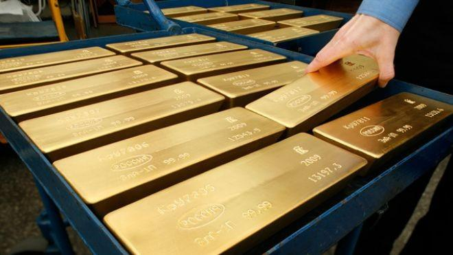 Gold Eases As Stocks, Euro Wilt Ahead Of Bernanke