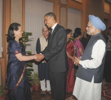 Obama meeting Sonia Gandhi and PM Singh