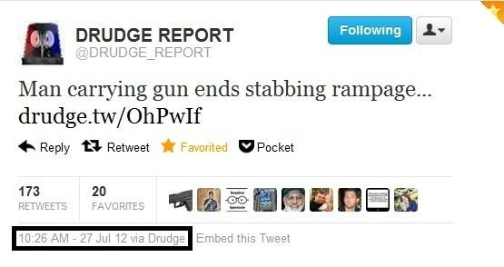 Drudge Report Exposed: Front Page Linked To Old Stabbing Story From Salt Lake City
