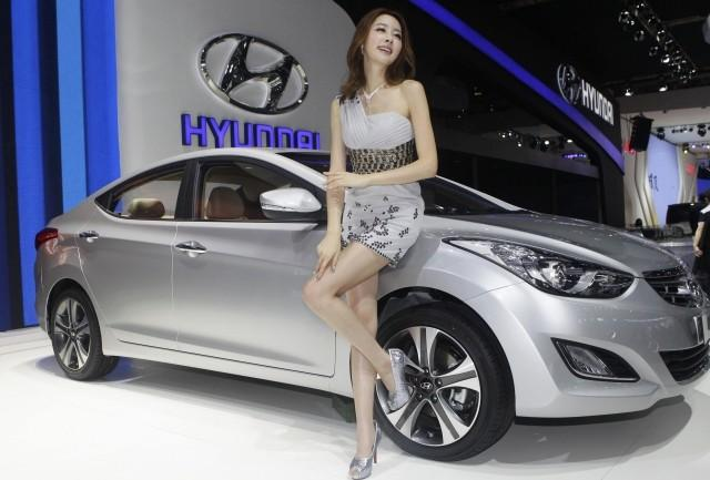 Hyundai Elantra At Auto China 2012 In Beijing