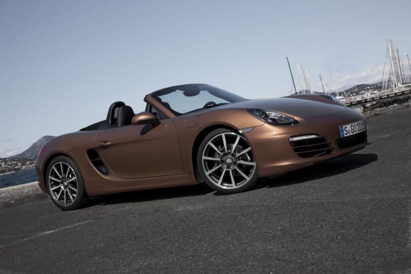 The 2013 Porsche Boxster S parked.
