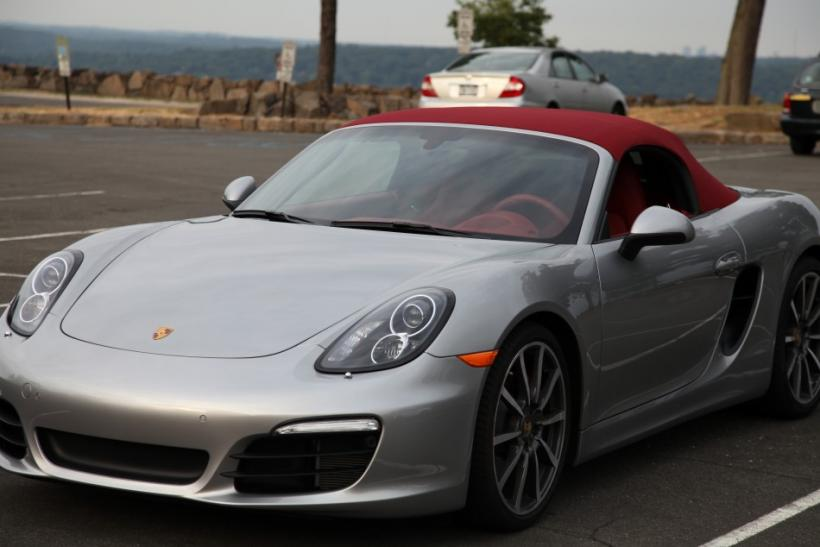 The 2013 Porsche Boxster S parked along the Palisades.