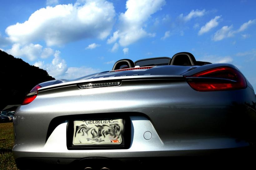 The rear of the 2013 Porsche Boxster S.
