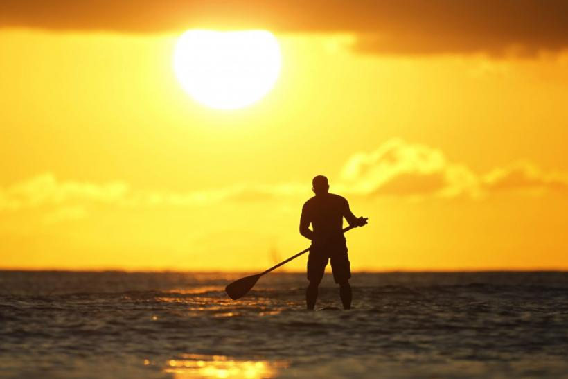 Paddle-boarding in Hawaii