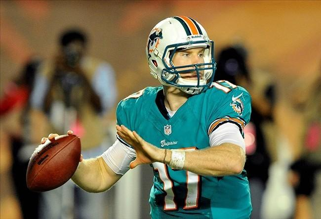 Ryan Tannehill will start his first career NFL game on against the Panthers.