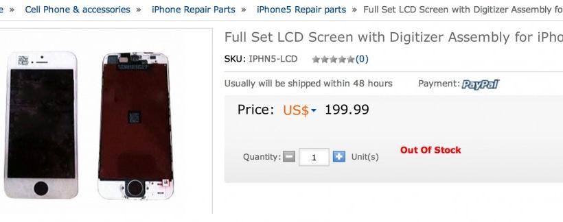 Apple iPhone 5 Already On Sale? Complete Set Of Components Sells For $199 In China [PICTURES]