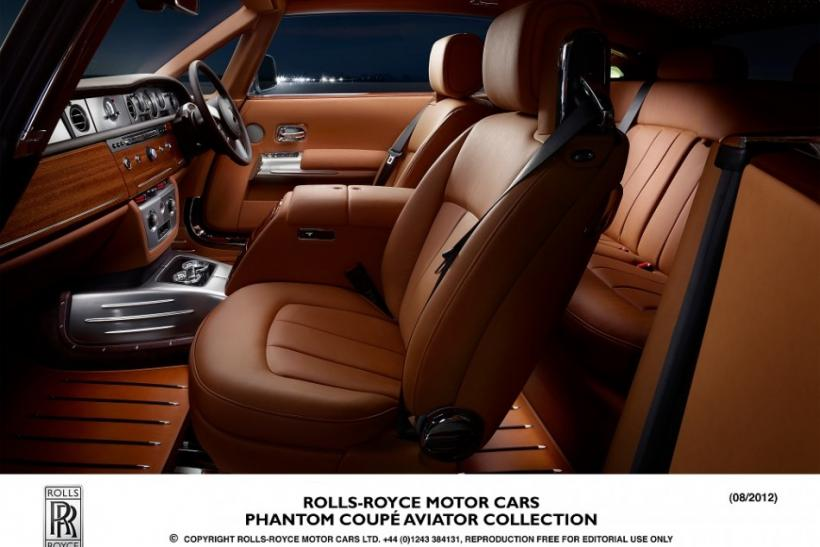 The interior of the new Rolls-Royce Phantom Coupe Aviator.
