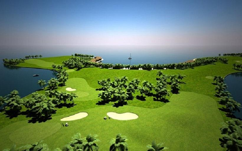 Maldives Floating Golf Course