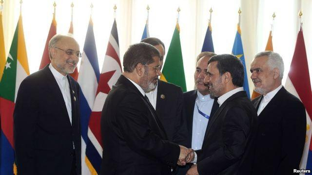 Morsi and Ahmadinelad at Non-Aligned Movement Summit