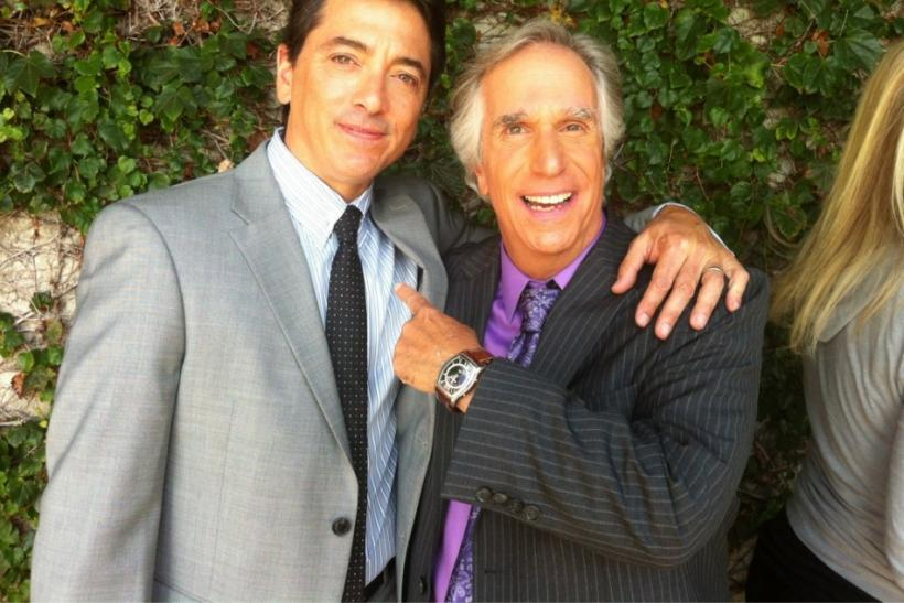 Henry Winkler and Scott Baio