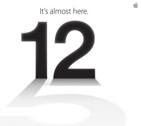 Apple Confirms  Sept. 12 iPhone 5 Event