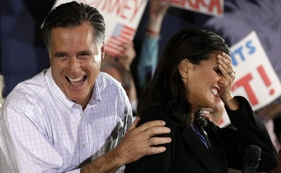 Mitt Romney and Nikki Haley