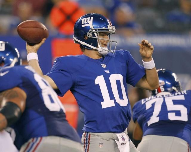 The Giants are 3.5-point favorites against the Cowboys in Week 1.