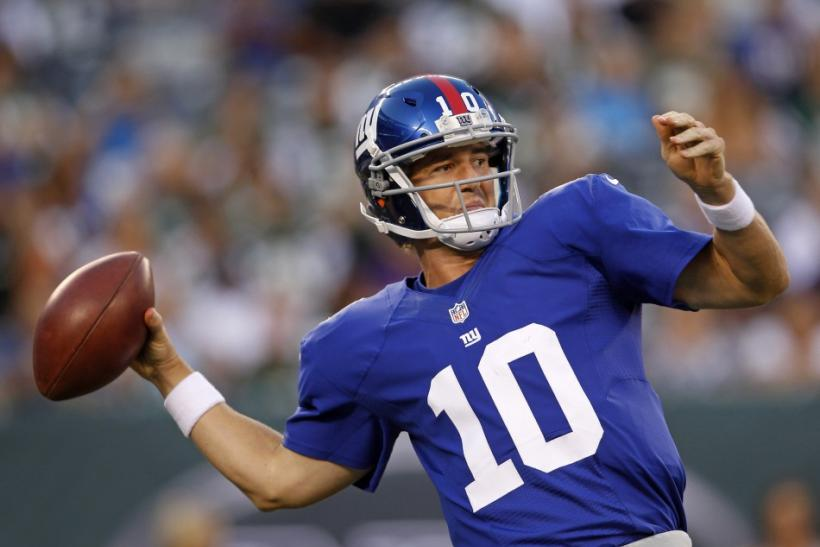 Eli Manning will be without two of his top options against the Panthers.
