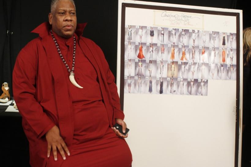 Andre Leon Talley backstage at the Carolina Herrera Spring 2013 show at Mercedes-benz Fashion Week