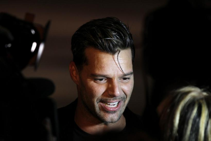 Singer Ricky Martin attends a presentation of Marc Jacobs Spring/Summer 2013 collection during New York Fashion Week September 10, 2012.