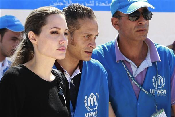 Angelina Jolie in Jordan