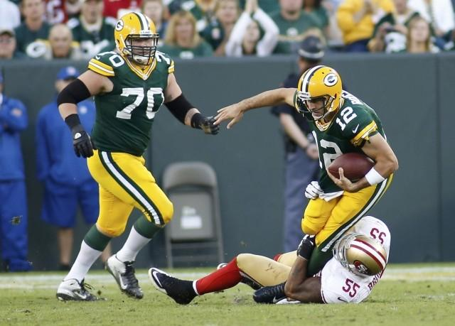 Aaron Rodgers threw for 303 yards in the 2012 season opener.