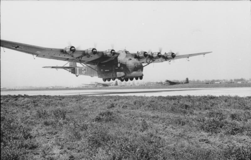 Gigant craft, the largest land-based transport aircraft from the war