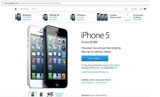 Apple iPhone 5 Pre-Orders Shipping Commences
