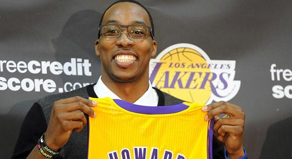 Dwight Howard was traded to the Lakers on Aug. 10 in a four-team deal.