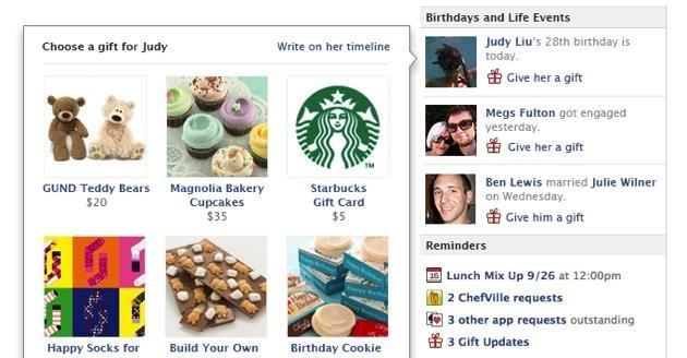 Facebook Expands eCommerce With Real World 'Gifts' Service