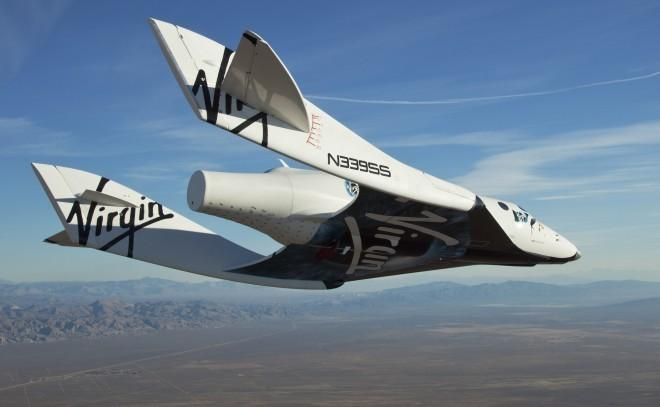 Virgin Galactic's VSS Enterprise/SpaceShipTwo on maiden glide flight