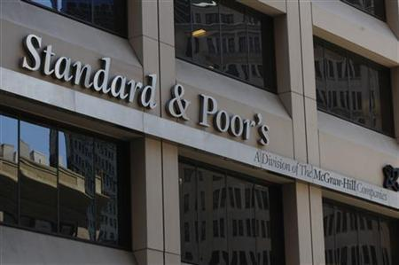 The Standard & Poor's building is seen in New York May 7, 2010.