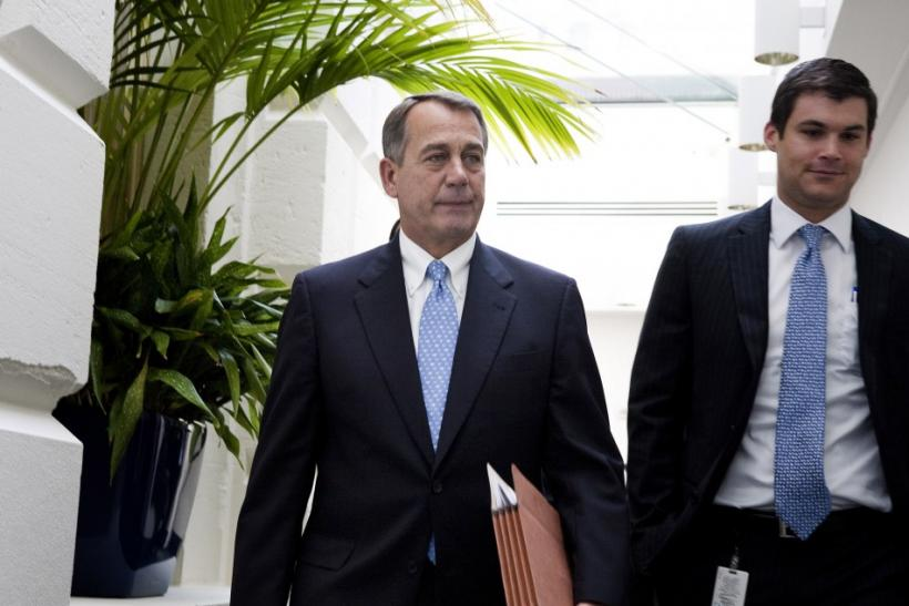 House Speaker John Boehner departs the Rep