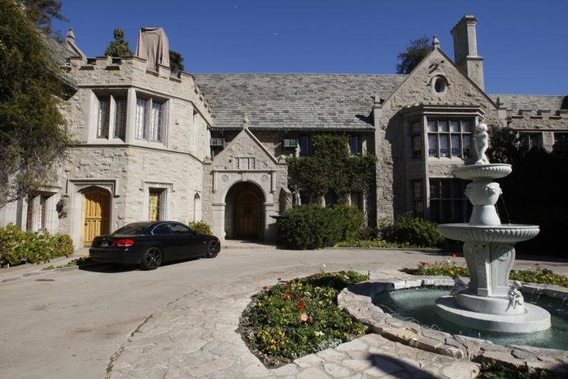 A view of the Playboy Mansion in Los Angeles