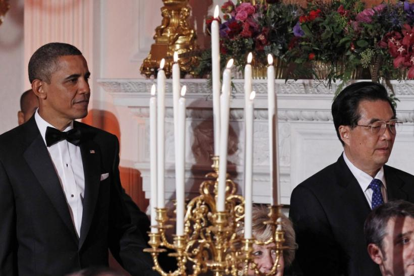 Presient Barack Obama and China's President Hu Jintao