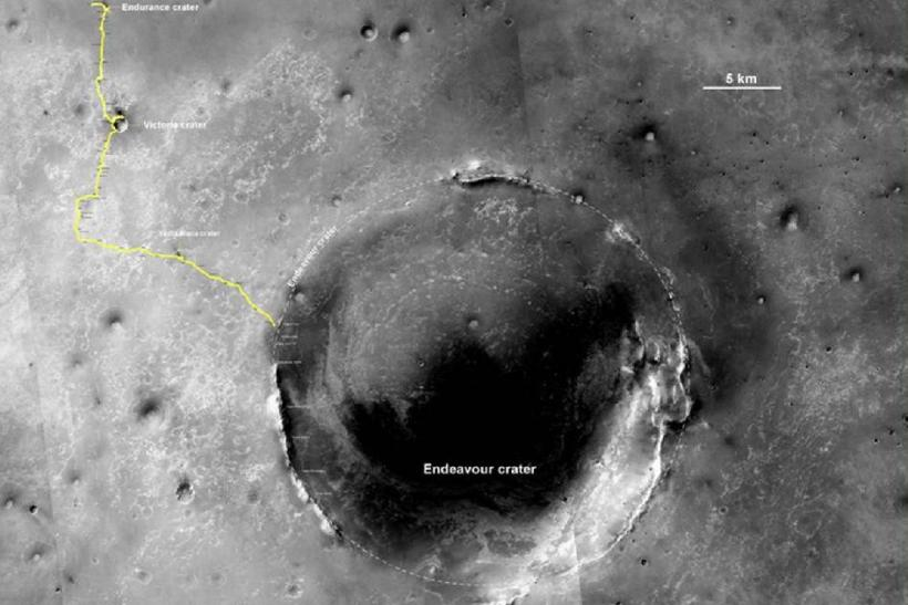 Opportunity's Route to Endeavour Crater